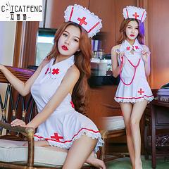 冯猫猫 诱惑护士短裙套装(帽子、衣服、内裤)