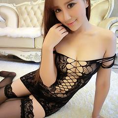 韩美丽丹 夜之魅惑性感网裙(不含内裤)